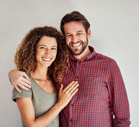 couple smiling with white teeth